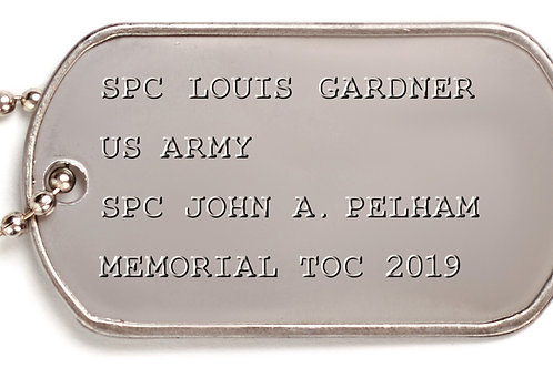 Honor the Service Member in Your Life Dog Tag Court Sticker