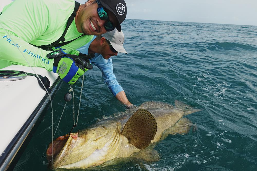 Andrew and Goliath Grouper