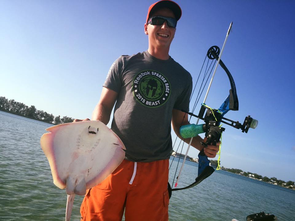 Trey Bow Fishing for Bait!