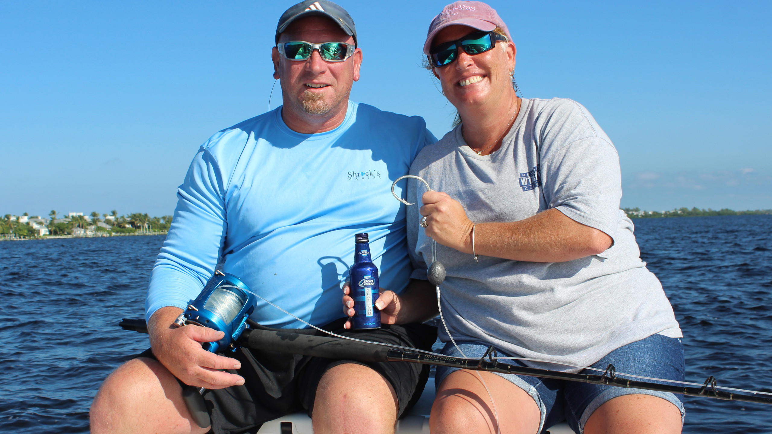 Danny & Kim with Goliath Grouper hook and reel