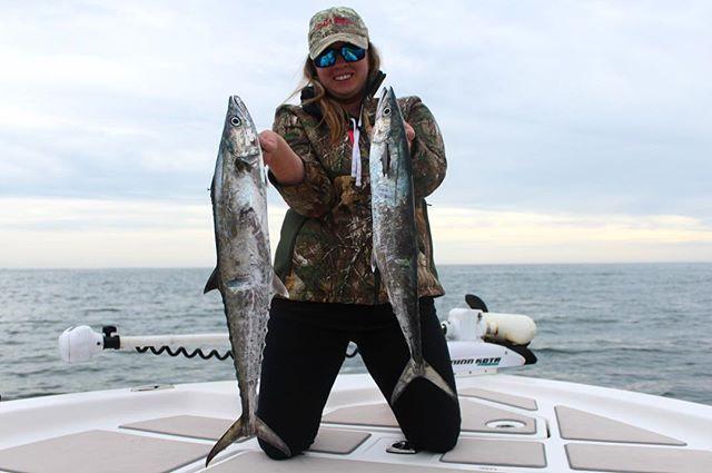 Raygin with a few king mackerel.