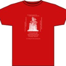 PETERLOO TEE SHIRT - RED/WHITE