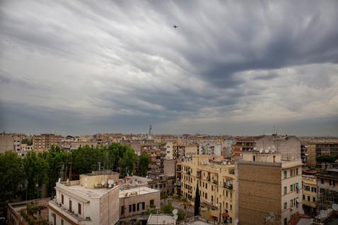 Torpignattara, panoramica. Area storicamente popolare, attualmente è il quartiere più multietnico di Roma.