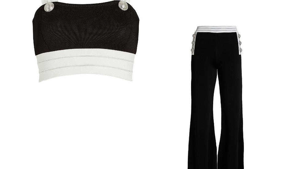 Balmain Crop Top & Pants Set