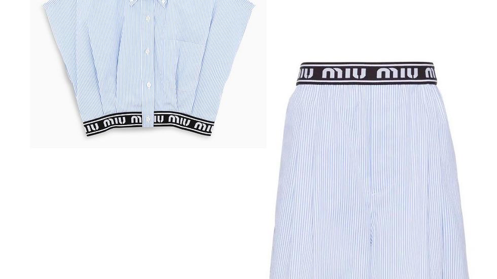 Striped Miu Miu Poplin Set