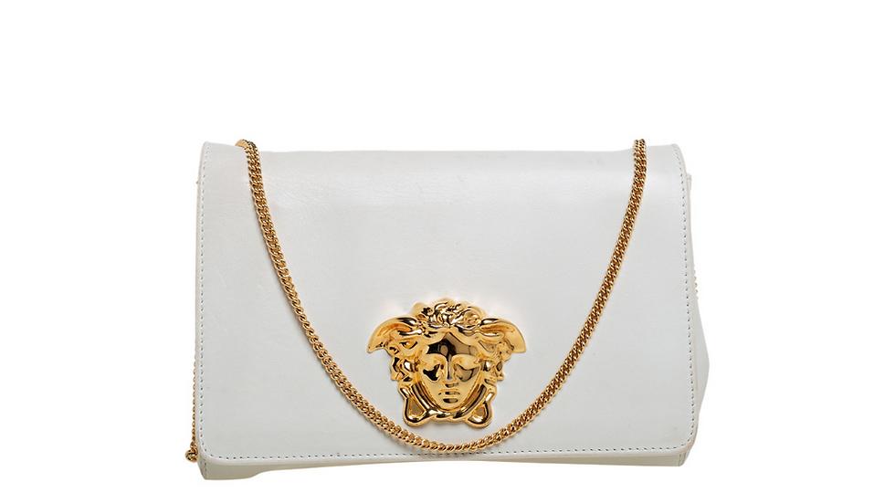 Versace White Leather Medusa Sultan