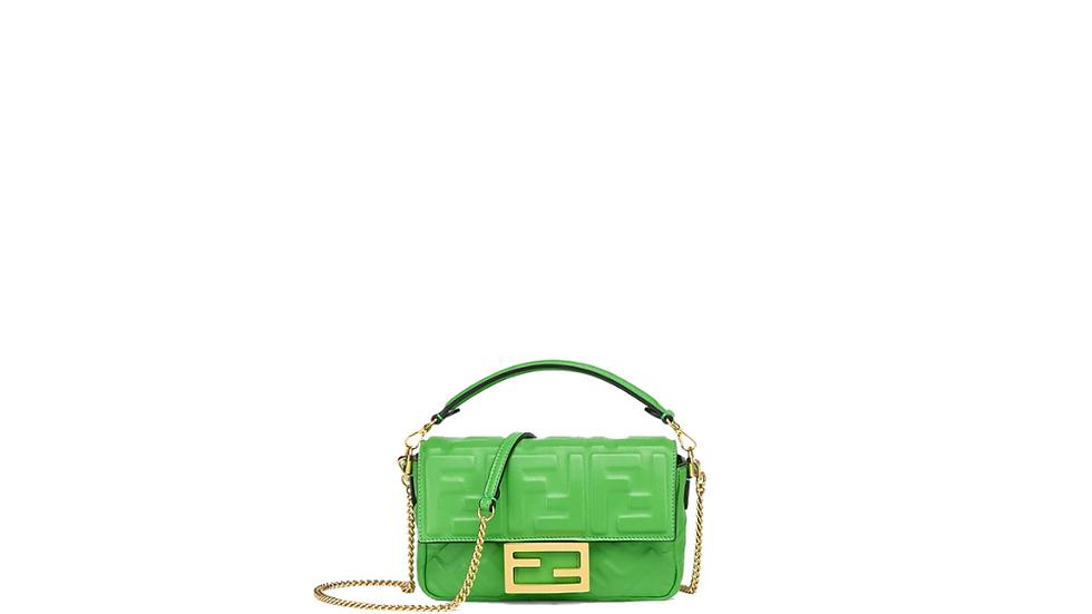 Fendi Baguette Nappa Leather Bag
