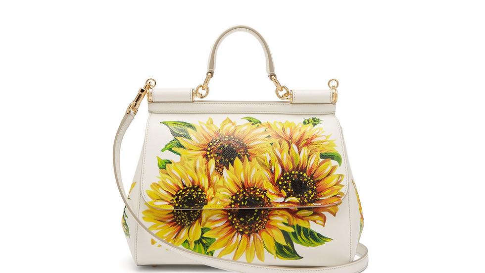 Dolce & Gabbana Sicily Sunflower-print Bag