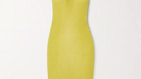 Botegga Veneta Halter Twist Fringe Dress