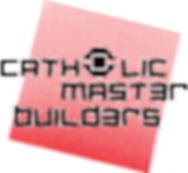 Catholic Master Builders Logo red plate.