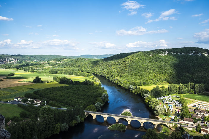 Panoramic view of Dordogne Valley Perigo