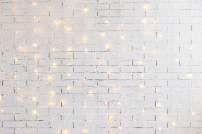 white brick wall christmas background wi