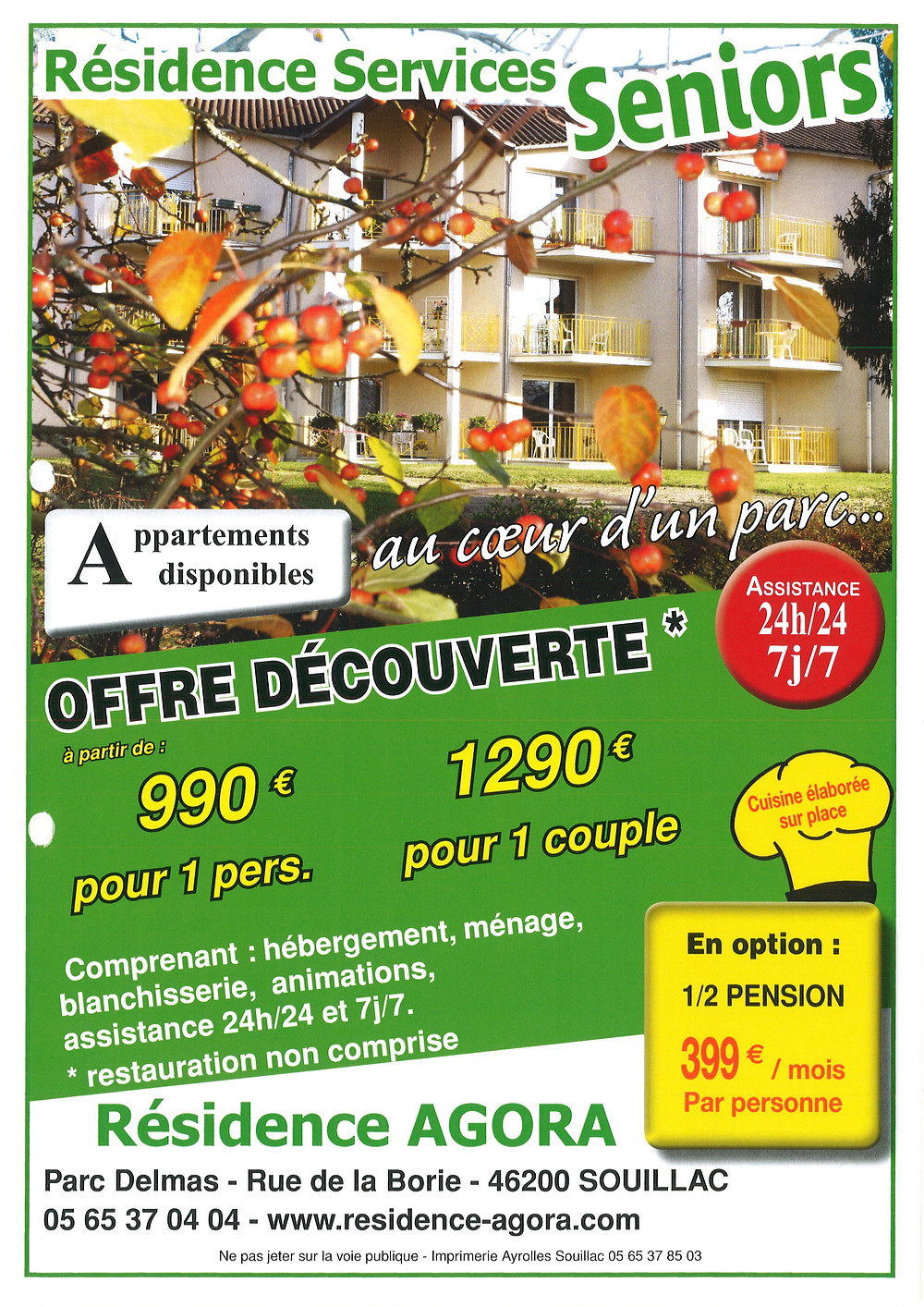 residence services seniors souillac