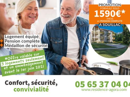 Promotion long séjour en pension complète : 1590€ par mois