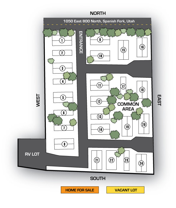 Map of homes for sale at Miller Meadows