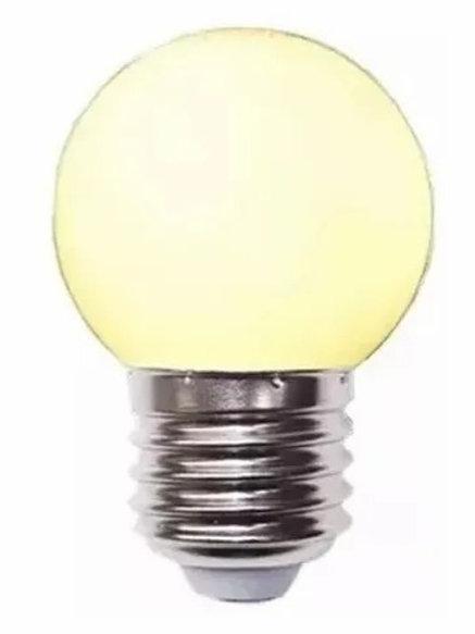 Lâmpada Bolinha 1w Branco Quente 127v