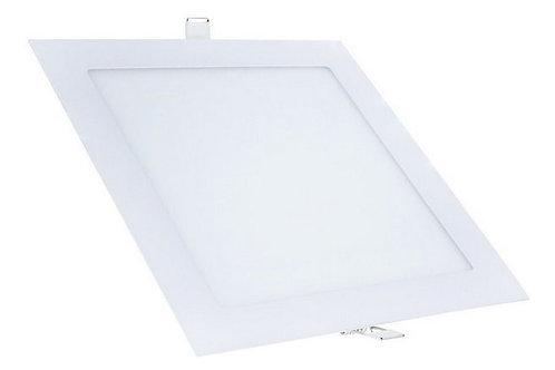 Plafon Quadrado de Embutir 18w Branco Quente
