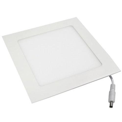 Plafon Quadrado de Embutir 24w Branco Frio