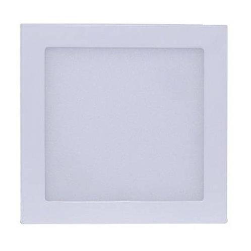 Plafon Quadrado de Sobrepor 12w Branco Quente