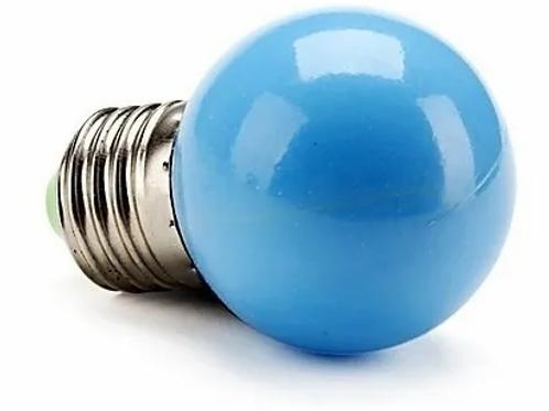 Lâmpada Bolinha 1w Azul 127v