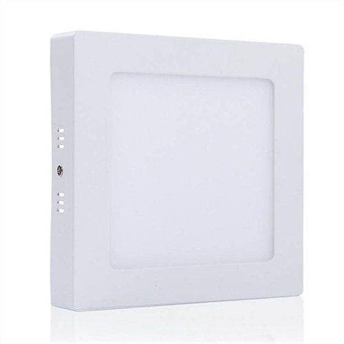 Plafon Quadrado de Sobrepor 12w Branco Frio