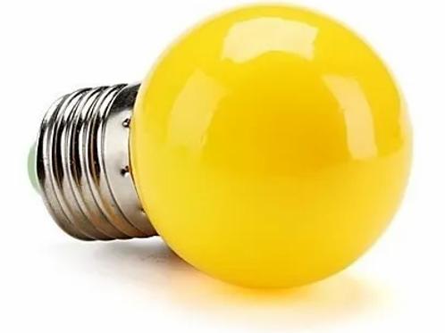 Lâmpada Bolinha 1w Amarela 127v