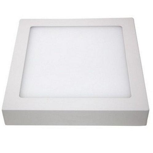 Plafon Quadrado de Sobrepor 24w Branco Frio
