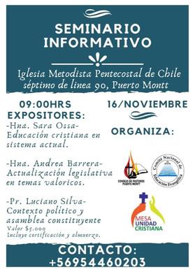 Seminario Informativo CONAEV Pto. Montt