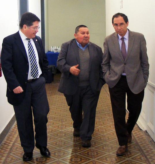 Hno. Sergio Núñez (Rg. de Magallanes), Pr. Juan Carrasco (Rg. de Los Ríos) y Pr. Daniel González (Rg. de Los Lagos).