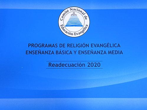Programa de Religión Evangélica Enseñanza Básica y Media 2020