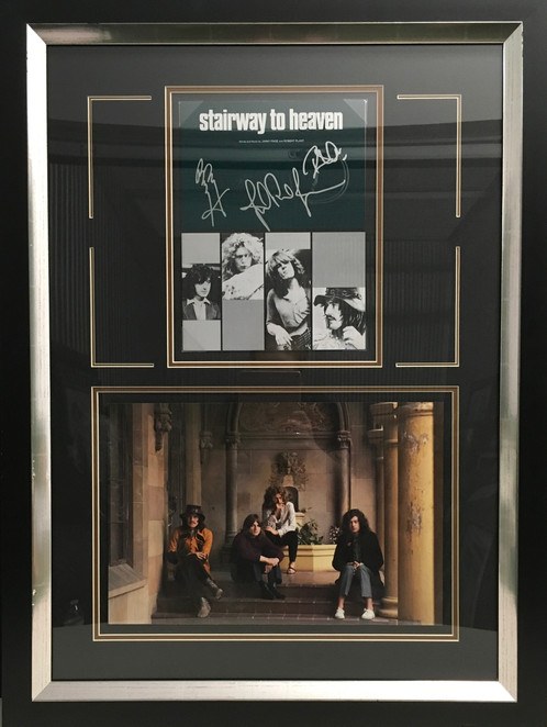 Led Zeppelin Stairway To Heaven Book Photo Signed