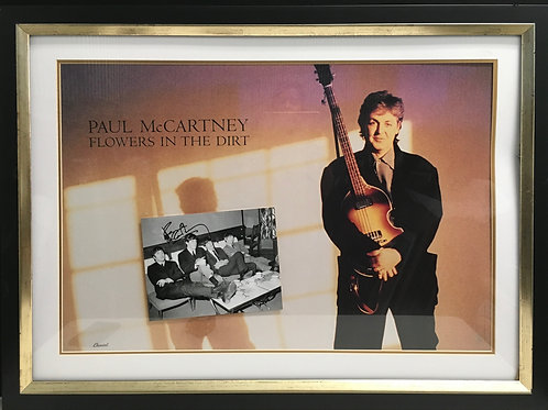 Paul McCartney Flowers in the Dirt Poster *Signed