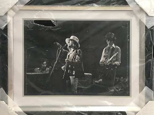 Bob Dylan & The Band photo *Signed