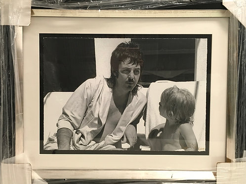 Paul McCartney with son