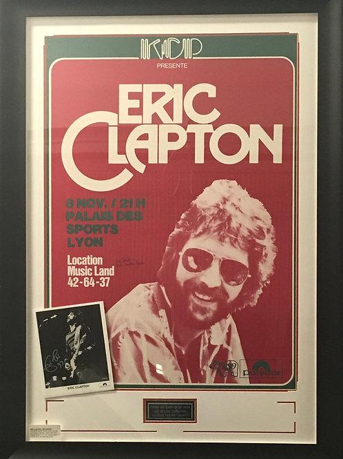 Eric Clapton 1978 tour poster & photo *Signed