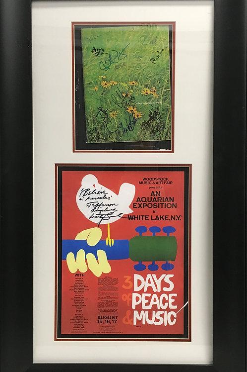 Woodstock poster & program *Signed