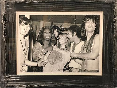 Nina Simone with cast of Hair 1968 photo