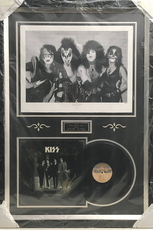 Kiss Dressed to Kill LP & Destroyer photo *Signed
