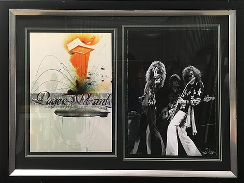 Jimmy Page and Robert Plant poster & photo *Signed