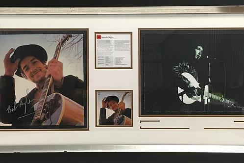 Bob Dylan Nashville Skyline LP & photo *Signed