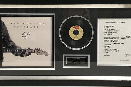 Eric Clapton Slowhand LP & set list *Signed
