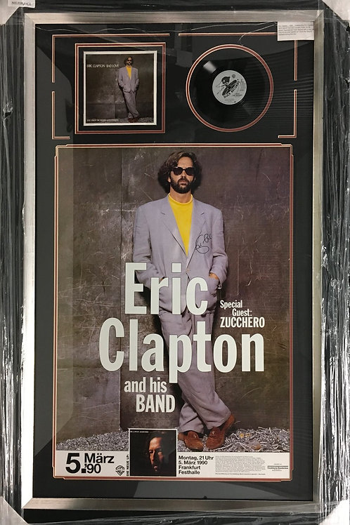 "Eric Clapton Frankfurt poster & ""Bad Love"" *Signed"
