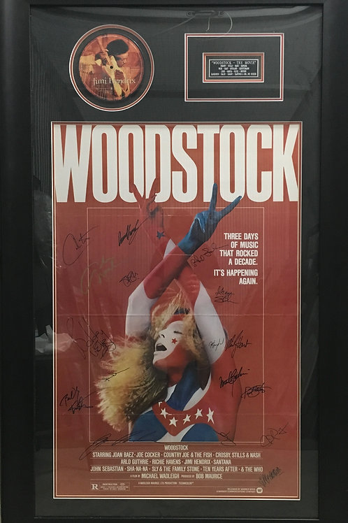 Woodstock movie poster & Jimi Hendrix CD