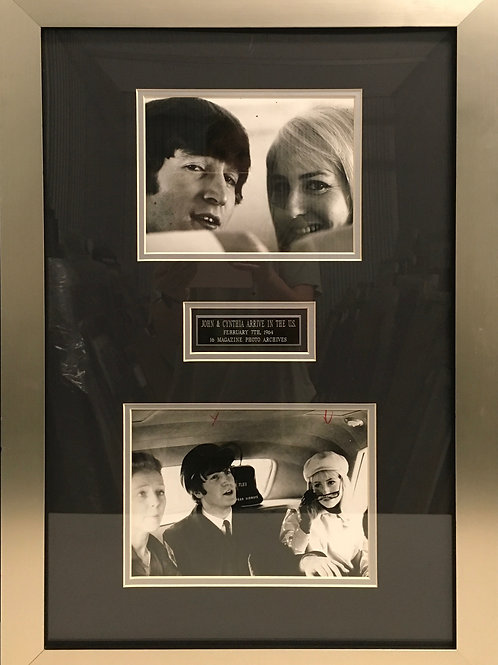 """John & Cynthia Arrive in the U.S.1964"""