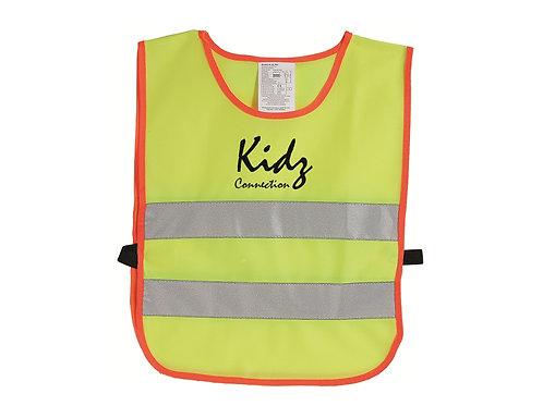 Kinder Sicherheitsüberwurf als Warnweste mit Druck