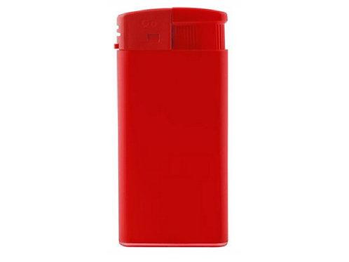 Rotes Feuerzeug GO XL matt mit Piezo Zündung