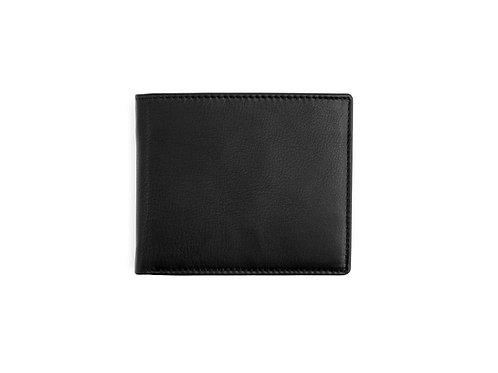 schwarze Eurostyle Brieftasche RFID geschlossen