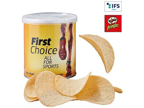 Pringles Chipsbox mit beigelegten Chips