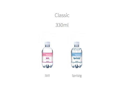 klassisches Mineralwasser spritzig oder still in 330 ml Flasche