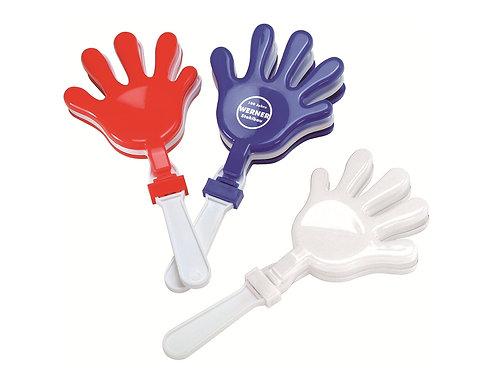 Fanartikel Klatschhand aus Kunststoff in Rot Blau und Weiß